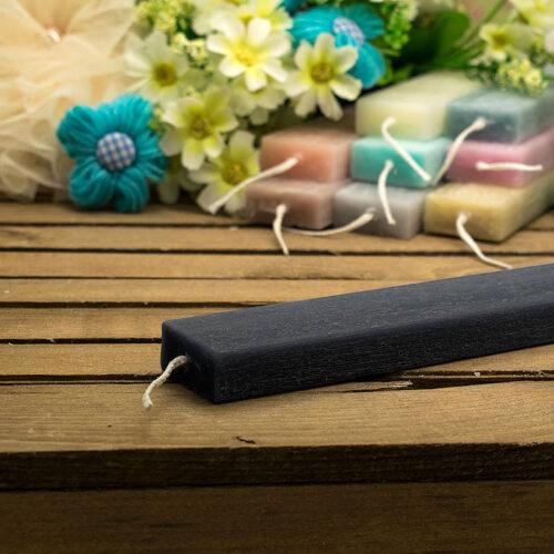 Λαμπάδα αρωματική ξυστή πλακέ 30cm μαύρη