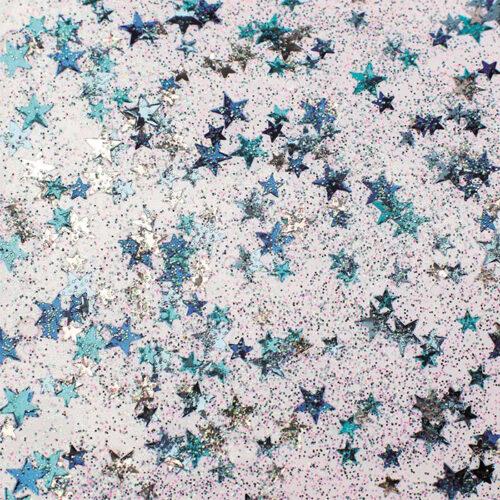 Χρυσόκολλα glitter μπλε με αστεράκια