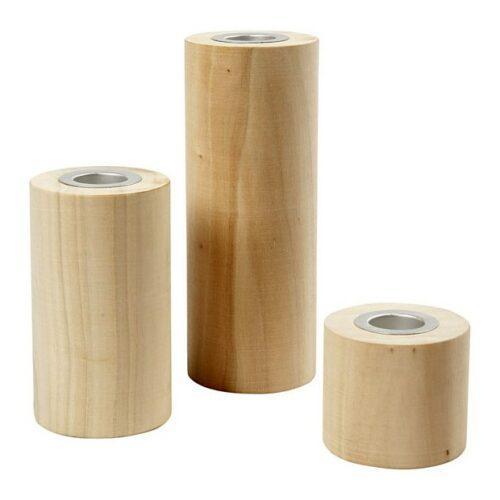 Ξύλινα κηροπήγια (3 μεγέθη)