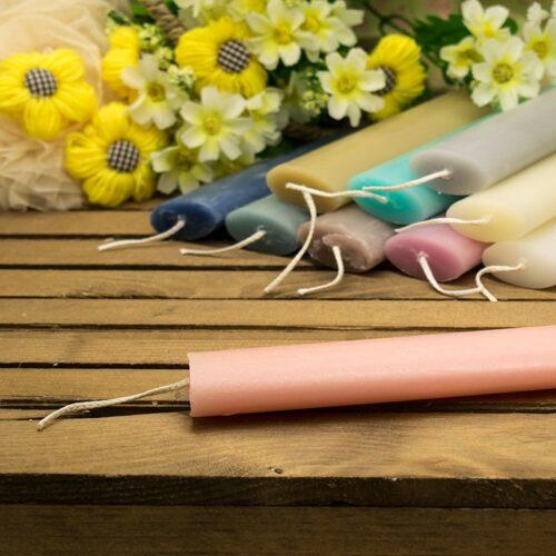 Λαμπάδα αρωματική οβάλ 30cm ροζ αντικέ (σανδαλόξυλο)
