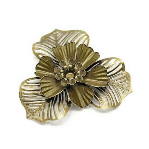 Λουλούδι Filigree antique bronze