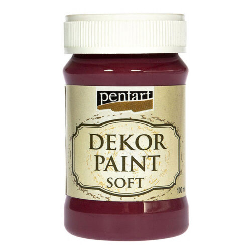 Dekor Paint Soft 100ml Pentart Burgundy red