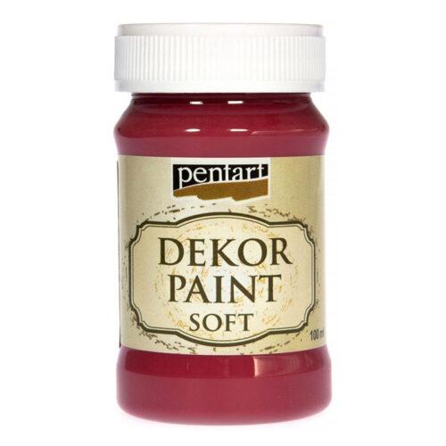 Dekor paint soft 100ml Cardinal red