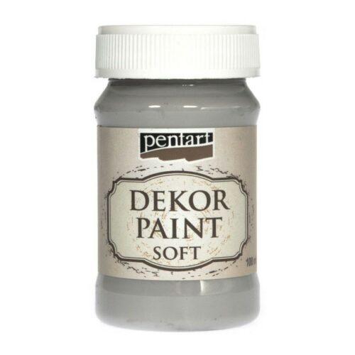 Dekor Paint Soft 100ml Pentart Grey
