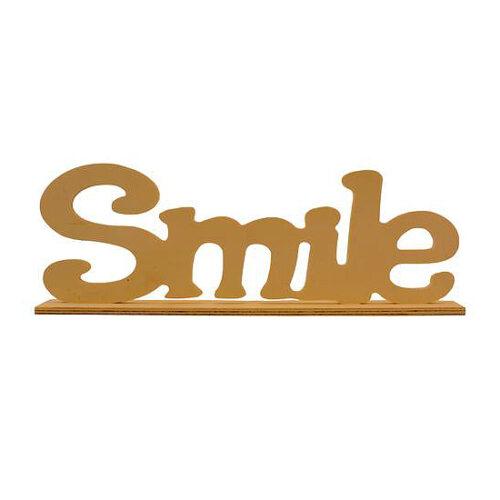 Smile ξύλινο διακοσμητικό 35x4x12cm