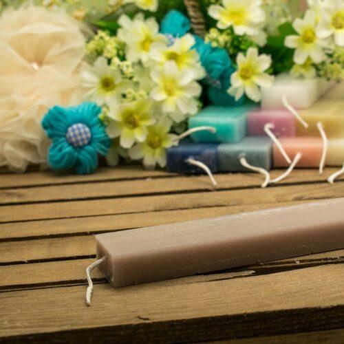 Λαμπάδα αρωματική ξυστή πλακέ 30cm. φουντουκί (βανίλια)