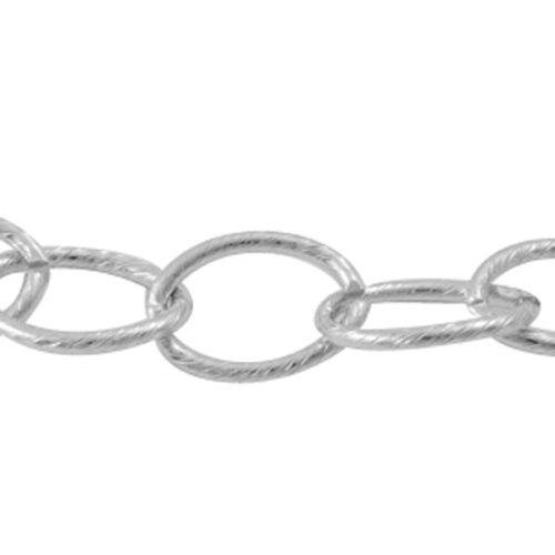 Αλυσίδα αλουμινίου ματ με κρίκους