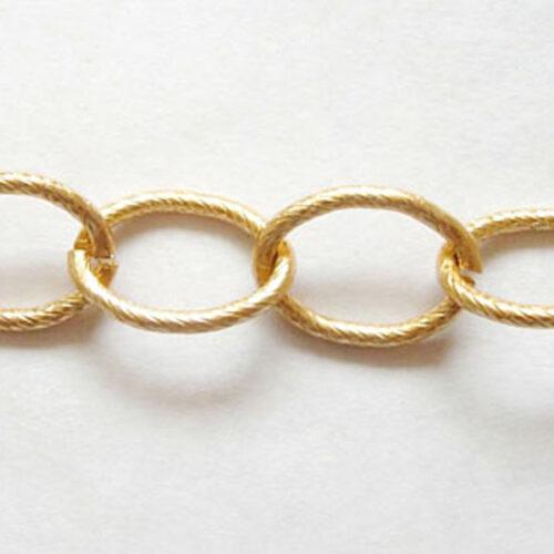 Αλυσίδα αλουμινίου χρυσή με οβάλ κρίκους