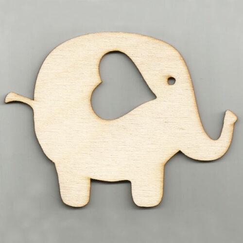 Chipboard Elephant-Heart