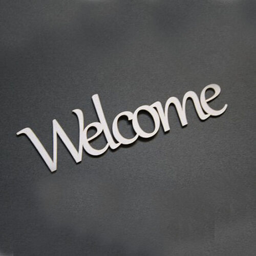 Welcome chipboard (13.5cm)