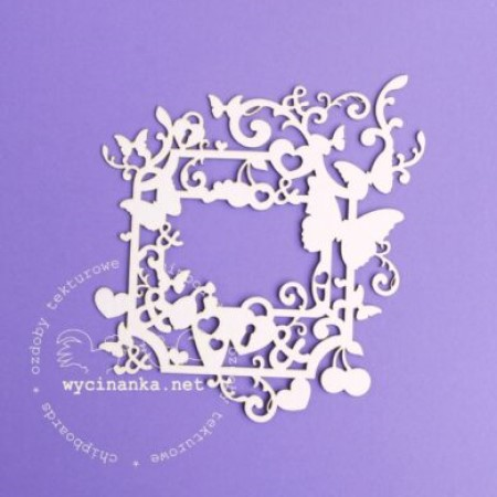 Butterflies & Hearts chipboard