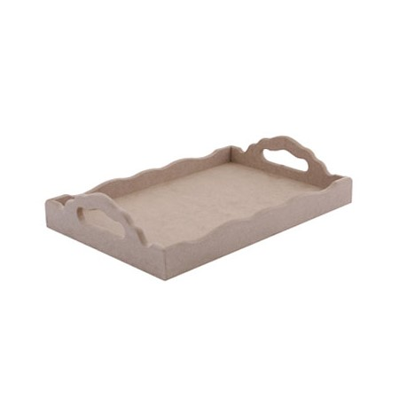 Ξύλινος (MDF) δίσκος ΤΡ02 (35x25x7cm)