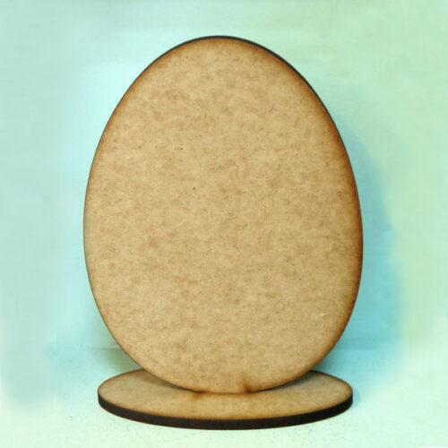Αυγό MDF με βάση, 18cm
