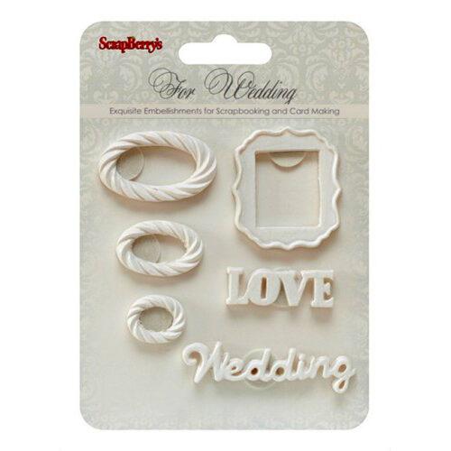 """Διακοσμητικά από πηλό """"Wedding 2"""""""