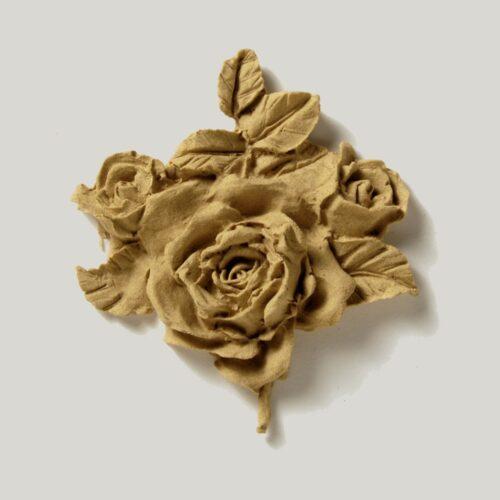 Ξυλόγλυπτο στοιχείο Τριαντάφυλλα 0330
