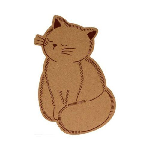 Γάτα ξύλινη MDF 15cm.