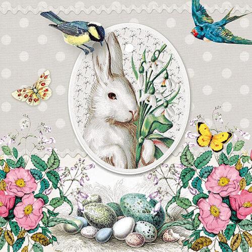 White Rabbit Grey χαρτοπετσέτα
