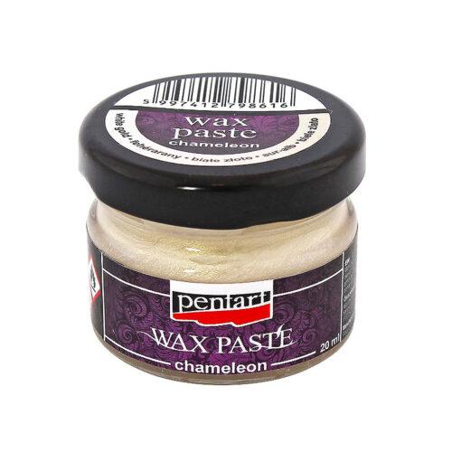 Wax paste chameleon white gold Pentart