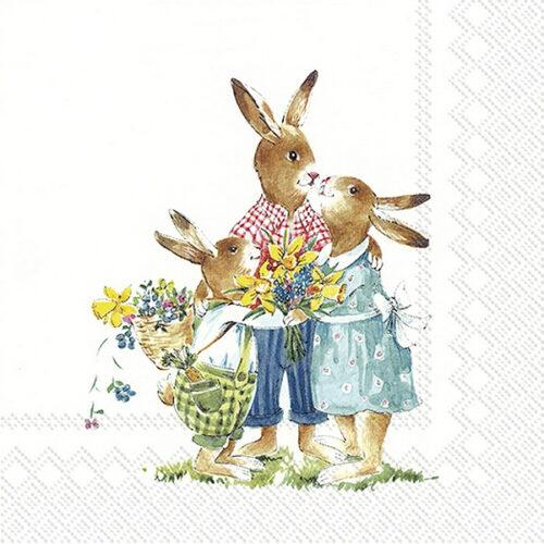 Easter family πασχαλινή χαρτοπετσέτα